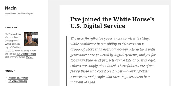 I've joined the White House's U.S. Digital Service