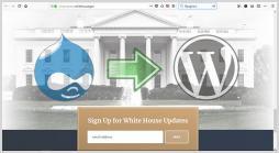 انتقال سایت کاخ سفید از دروپال به وردپرس